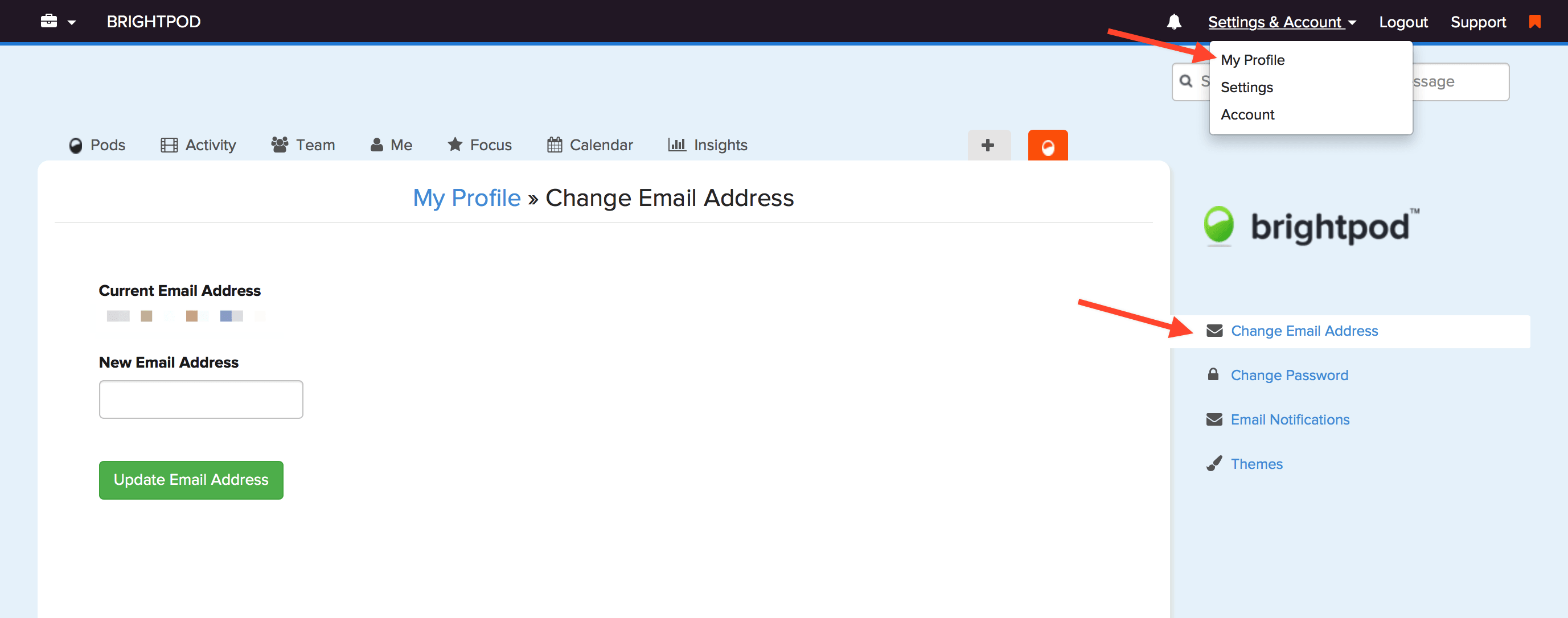 How can I change my email address