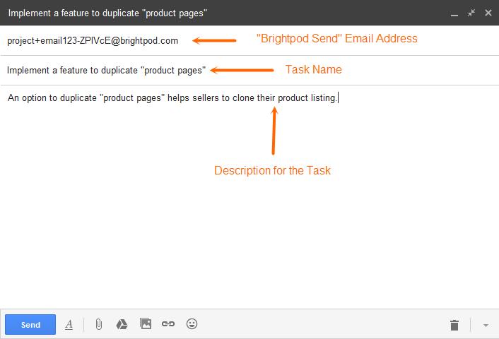 Brightpod send - Add task