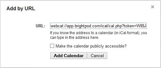 Google Calendar n iCalendar URL