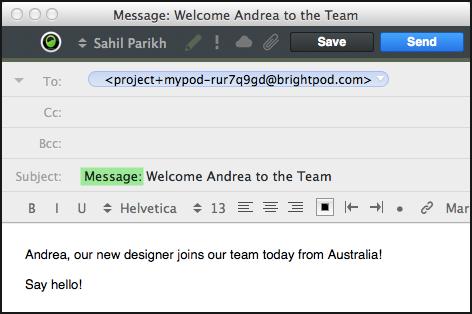 Brightpod send - sending messages