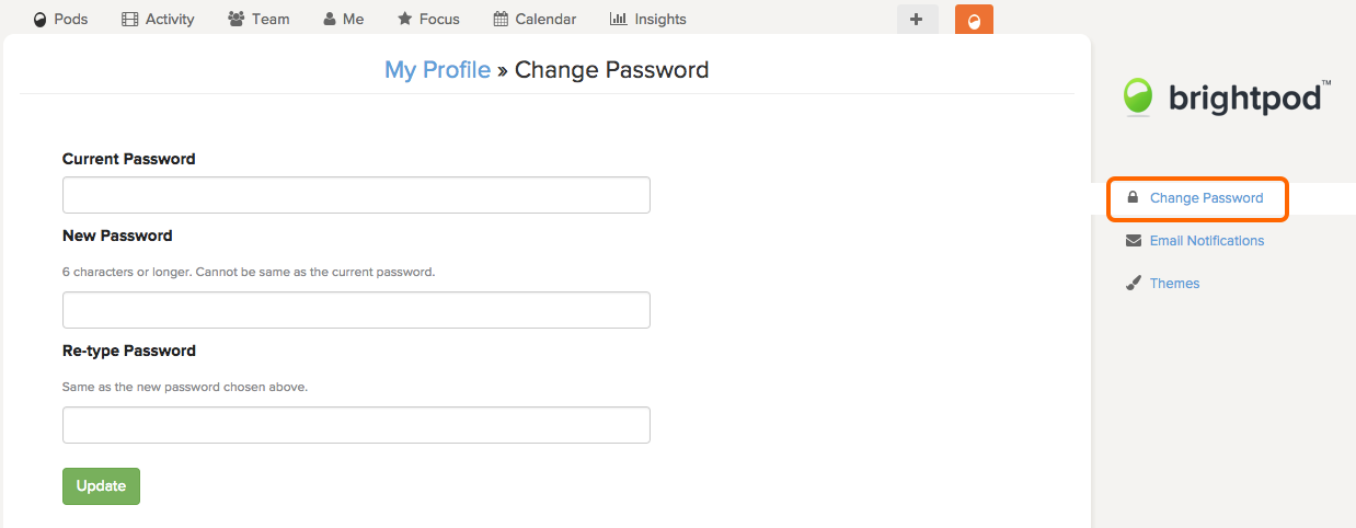 how to change password on my google account