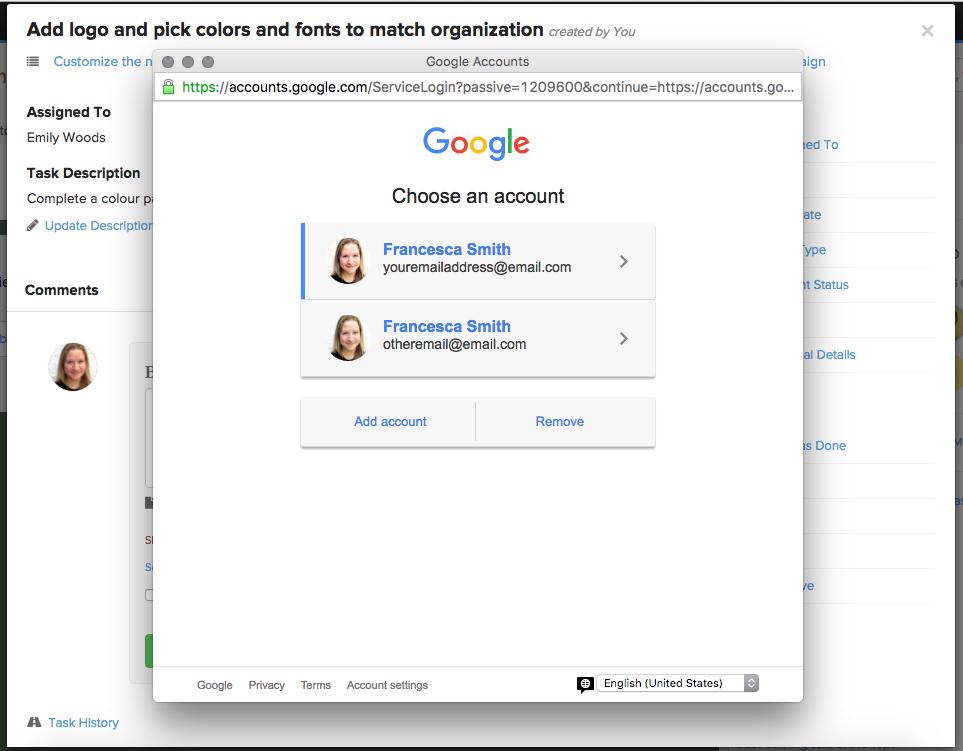 google-select-account